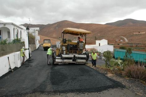 Pavimentación municipal en Toto, Pájara, Fuerteventura.
